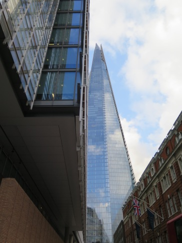 A view past the News Building of its near neighbour the Shard